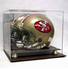 Executive Acrylic Football Helmet Display Case with Leather Base