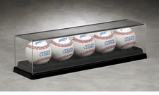 Five Ball Acrylic Display Case with Formed Black Base
