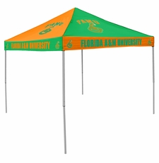 Florida A&M Rattlers Green / Orange Checkerboard Logo Canopy Tailgate Tent