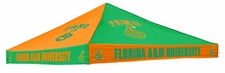 Florida A&M Rattlers Green / Orange Checkerboard Logo Tent Replacement Canopy