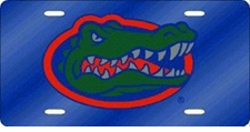 Florida Gators Blue Laser Cut License Plate