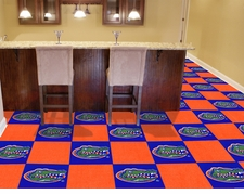 Florida Gators Carpet Tiles - 20 18x18 Square Tiles