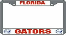 Florida Gators Chrome License Plate Frame