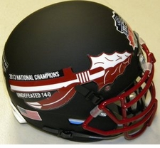 Florida State Seminoles 2013 National Champions 14-0 Black Schutt Authentic Mini Helmet
