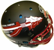 Florida State Seminoles 2013 National Champions 14-0 Black Schutt Authentic XP Helmet