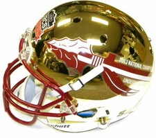 Florida State Seminoles 2013 National Champions 14-0 Gold Chrome Schutt Full Size Replica XP Helmet
