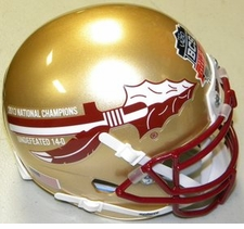 Florida State Seminoles 2013 National Champions 14-0 Schutt Authentic Mini Helmet