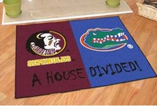 Florida State Seminoles - Florida Gators House Divided Floor Mat