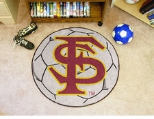 "Florida State Seminoles ""FS"" 27"" Soccer Ball Floor Mat"