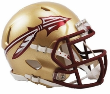 Florida State Seminoles Gold Riddell Speed Mini Helmet