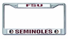 Florida State Seminoles Laser Cut Chrome License Plate Frame