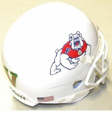 Freson State Bulldogs White XP Authentic Mini Helmet