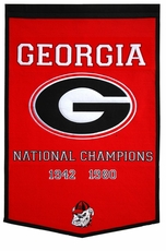 Georgia Bulldogs 24 x 36 Football Dynasty Wool Banner