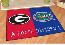 Georgia Bulldogs - Florida Gators House Divided Floor Mat