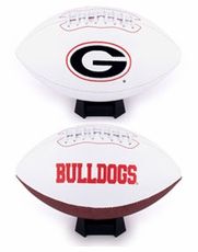 Georgia Bulldogs Full Size Signature Embroidered Football