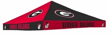 Georgia Bulldogs Red / Black Checkerboard Logo Tent Replacement Canopy