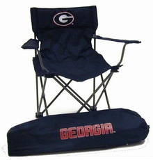 Georgia Bulldogs Rivalry Black Adult Chair
