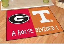 Georgia Bulldogs - Tennessee Volunteers House Divided Floor Mat
