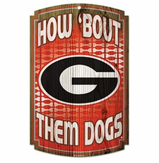 Georgia Bulldogs Wood Sign