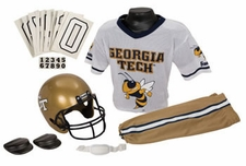 Georgia Tech Yellow Jackets Deluxe Youth / Kids Football Helmet Uniform Set