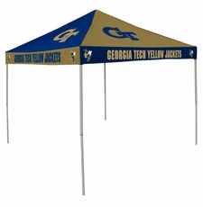 Georgia Tech Yellow Jackets Navy / Gold Checkerboard Logo Canopy Tailgate Tent