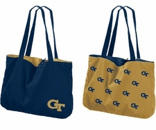 Georgia Tech Yellow Jackets Reversible Tote Bag