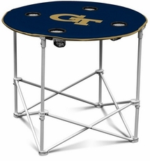 Georgia Tech Yellow Jackets Round Tailgate Table