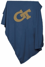 Georgia Tech Yellow Jackets Sweatshirt Blanket