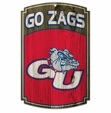 Gonzaga Bulldogs Wood Sign