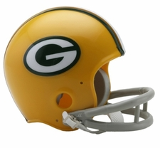 Green Bay Packers 1961-79 2-Bar Throwback Replica Mini Helmet
