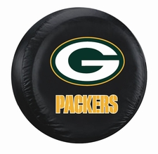 Green Bay Packers Black Large Spare Tire Cover