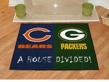 Green Bay Packers - Chicago Bears House Divided Floor Mat