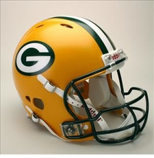 Green Bay Packers Full Size Riddell Revolution NFL Helmet