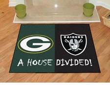 Green Bay Packers - Oakland Raiders House Divided Floor Mat