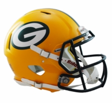 Green Bay Packers Revolution Speed Riddell Authentic Helmet