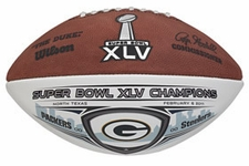 Green Bay Packers Super Bowl 45 XLV Champions Wilson Official Full Size Commemorative Football