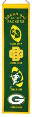 Green Bay Packers Wool 8x32 Heritage Banner