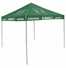 Hawaii Warriors Hunter Green Logo Canopy Tailgate Tent