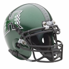 Hawaii Warriors Green Schutt Authentic Mini Helmet