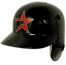 Houston Astros Throwback Left Flap Rawlings Authentic Batting Helmet