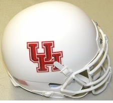 Houston Cougars White Schutt XP Authentic Mini Helmet