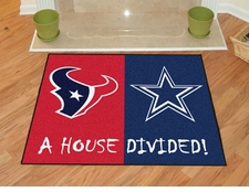 Houston Texans - Dallas Cowboys House Divided Floor Mat