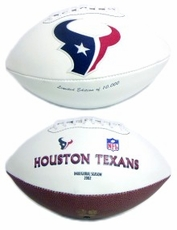 Houston Texans Embroidered Autograph Signature Series Football