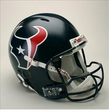 Houston Texans Full Size Riddell Revolution NFL Helmet