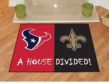 Houston Texans - New Orleans Saints House Divided Floor Mat