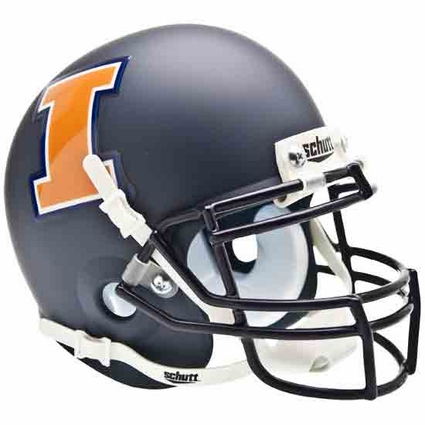 Illinois Fighting Illini Blue Schutt Authentic Mini Helmet