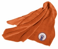 Illinois Fighting Illini Fleece Throw (Orange)