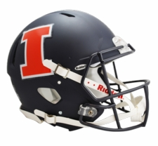 Illinois Fighting Illini Navy Riddell Revolution Speed Authentic Helmet