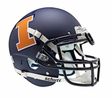 Illinois Fighting Illini Navy Schutt XP Authentic Helmet