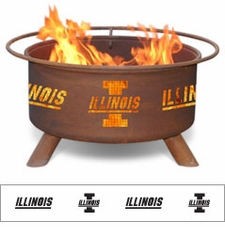 Illinois Fighting Illini Outdoor Fire Pit